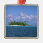 Oceania, French Polynesia, Tahiti. Small Christmas Ornament