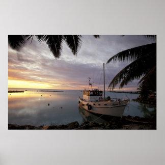 Oceania, Polynesia, Cook Islands, Aitutaki, Poster
