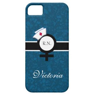 Oceanic Blue+Female Sign+Nurse Cap/Name iPhone 5 Cover