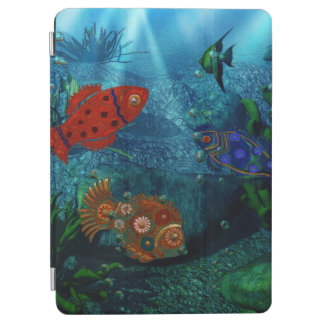 Oceano Folk Art Fish iPad Air Cover