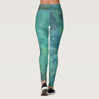 Ocean's Deep Abstract Leggings