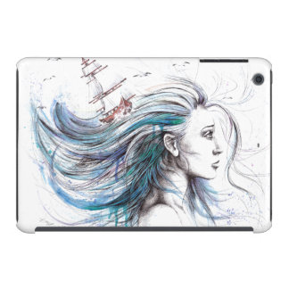 """Oceans"" Girl surreal original art iPad case"