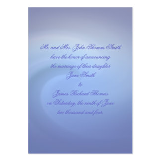 Oceans of Love Wedding Pack Of Chubby Business Cards