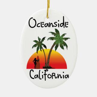 Oceanside California Ceramic Oval Decoration