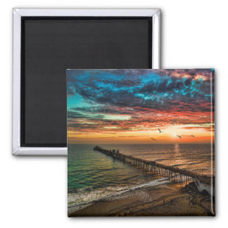 Oceanside, California Square Magnet