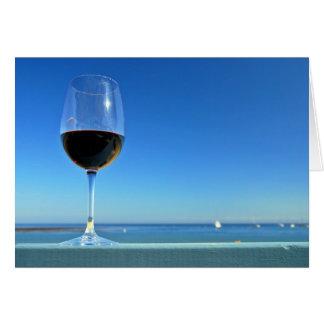 Oceanside Glass of Merlot Note Card