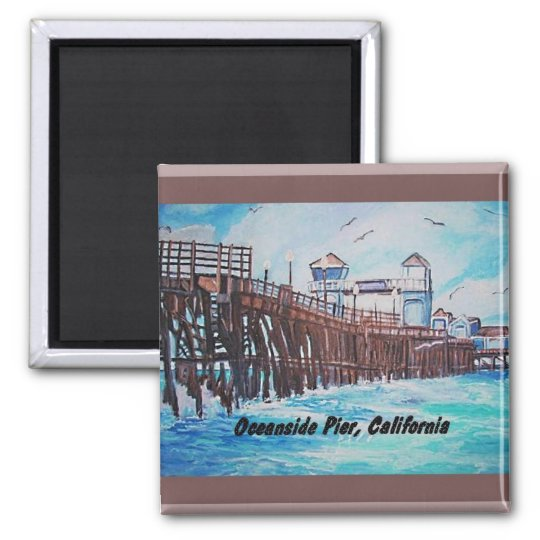 Oceanside Pier Painting Magnet