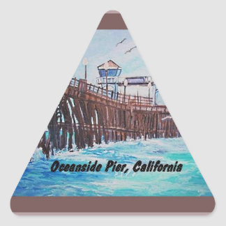 Oceanside Pier Painting Sticker
