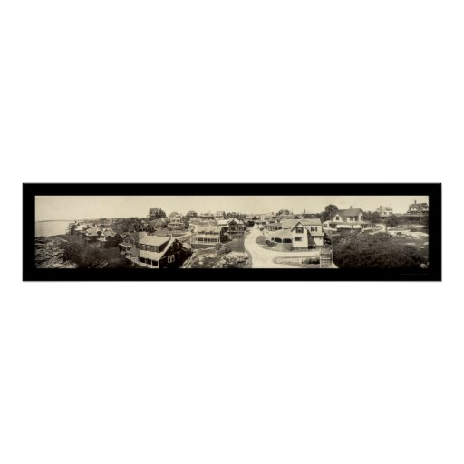 Oceanview Marblehead Photo 1908 Poster