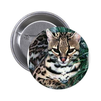 Ocelot 6 Cm Round Badge
