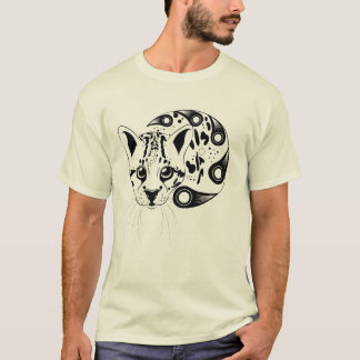 Ocelot Big Cat Ink Art T-Shirt