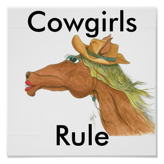 OceTDS189, Cowgirls, Rule Poster