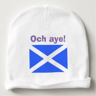 Och Aye Scottish Independence Saltire Baby Beanie