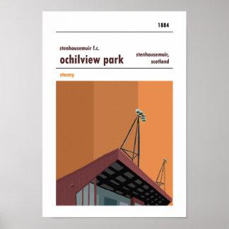 Ochilview Park, Stenhousemuir. Stadium Print. Poster