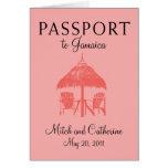 Ocho Rios Jamaica Passport Wedding Invitation Note Card