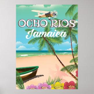 Ocho Rios Jamaica travel poster