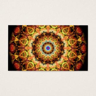 Ochre Burned Glass kaleidoscope Business Card