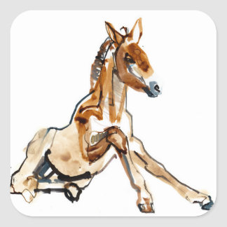 Ochre Foal Square Sticker