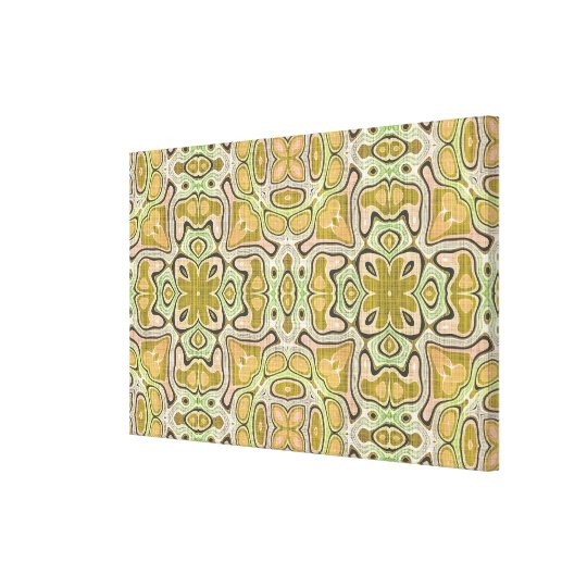 Ochre Yellow Olive Green Hip Ornate Art Pattern