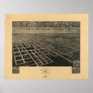 Ocilla Georgia 1908 Antique Panoramic Map Print