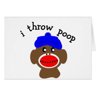 ock Monkey I THROW POOP Cards