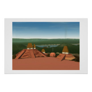 Ocmulgee Mounds Painting Poster
