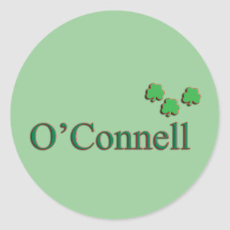 O'Connell Family Round Sticker