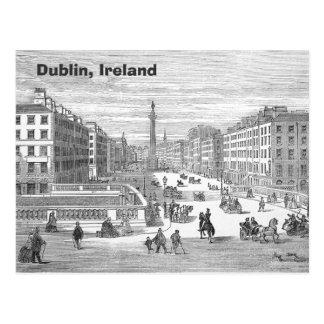 O'Connell Street Vintage Dublin Ireland Postcard