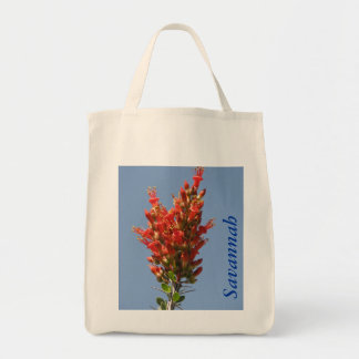 Ocotillo Plant Grocery Tote Bag