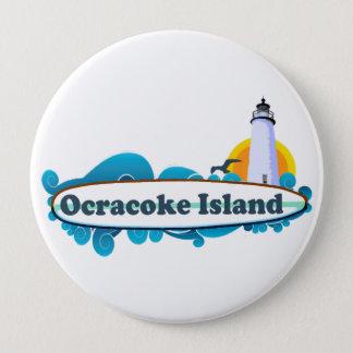 Ocracoke Island. 10 Cm Round Badge