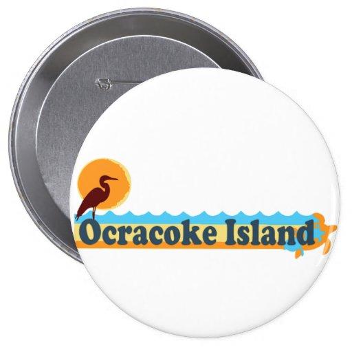 Ocracoke Island. Pinback Button