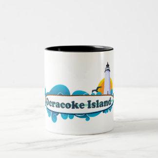 Ocracoke Island. Two-Tone Mug