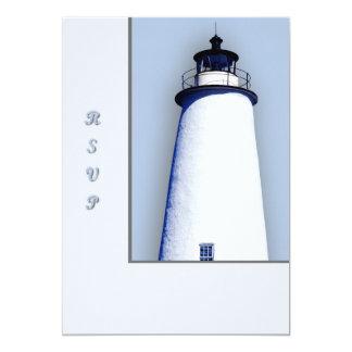 Ocracoke Lighthouse 13 Cm X 18 Cm Invitation Card
