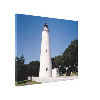 Ocracoke Lighthouse Stretched Canvas Print