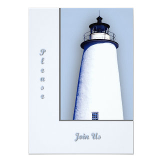 """Ocracoke Lighthouse General Announcements 5"""" X 7"""" Invitation Card"""