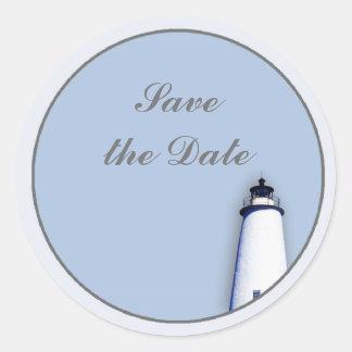 Ocracoke Lighthouse Round Sticker