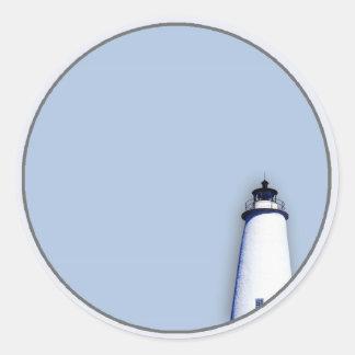 Ocracoke Lighthouse Classic Round Sticker