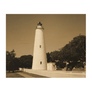 Ocracoke Lighthouse Wood Wall Decor
