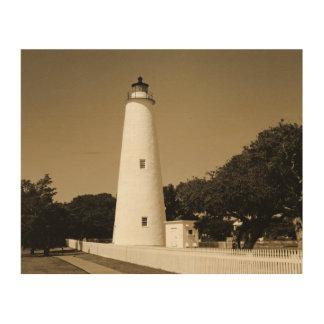 Ocracoke Lighthouse Wood Canvas