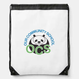 OCS Logo Drawstring Backpack