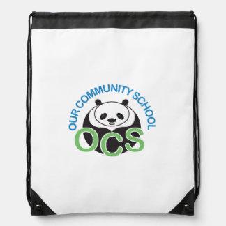 OCS Logo Drawstring Backpack