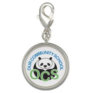 OCS Logo Silver Charms