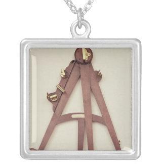 Octant, 1750 square pendant necklace