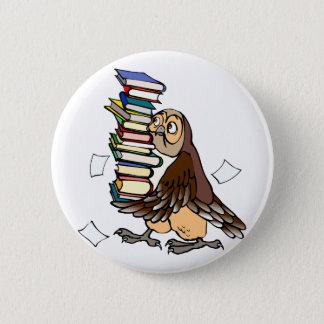 Octavian Owl 6 Cm Round Badge