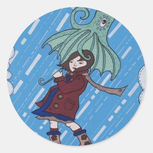 Octibrella! Round Sticker