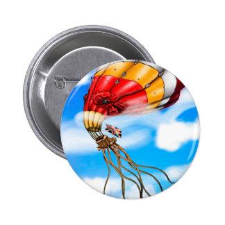 Octo-Balloon 6 Cm Round Badge