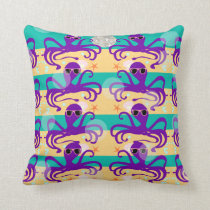 Octo Party Octopus Pattern Cushion