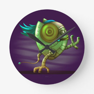 OCTO ROBOT CARTOON MEDIUM CLOCK ROUND