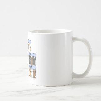 October 11th Birthdays celebrated by Cats. Basic White Mug