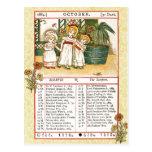 October 1884 Almanac.  Scorpio, The Scorpion Postcard